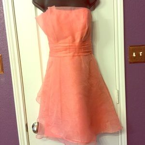 David's Bridal style F14335 Coral dress